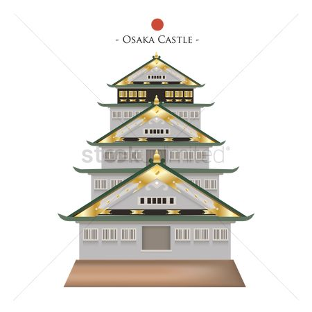 Tourist attractions : Osaka castle