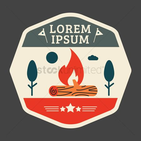 Logs : Outdoor logo element