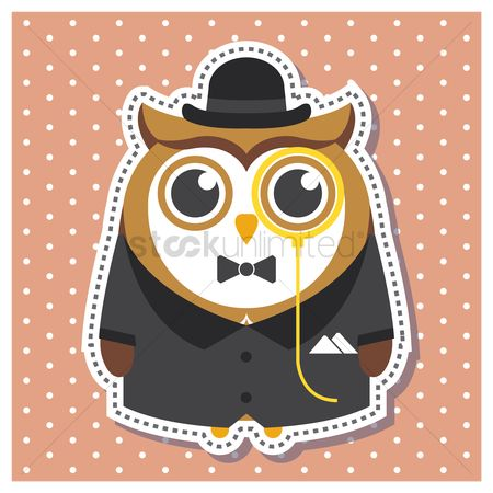 Owl : Owl as a gentleman