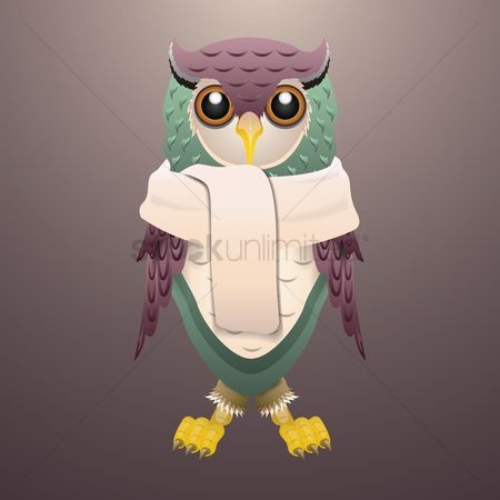 Claws : Owl wearing scarf
