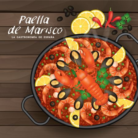 Dishes : Paella de marisco