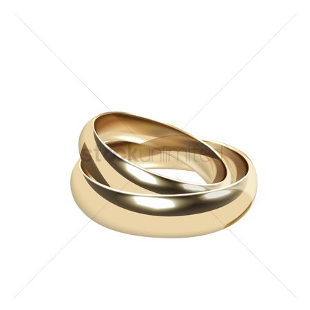 Engagements : Pair of golden rings