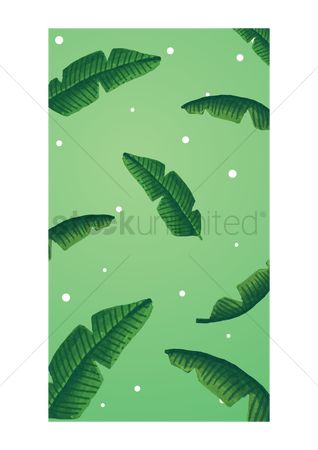 Mobile wallpaper : Palm leaves mobile interface wallpaper