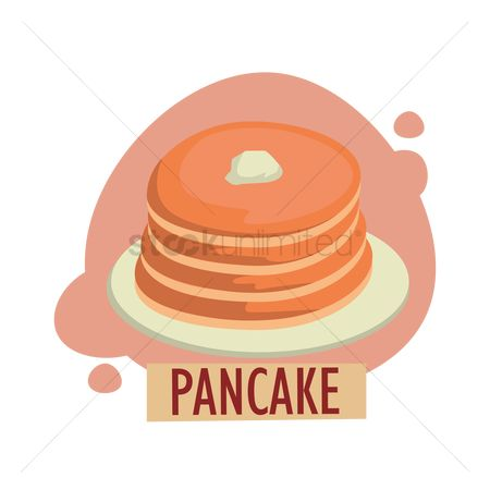 Hotcake : Pancake menu card design