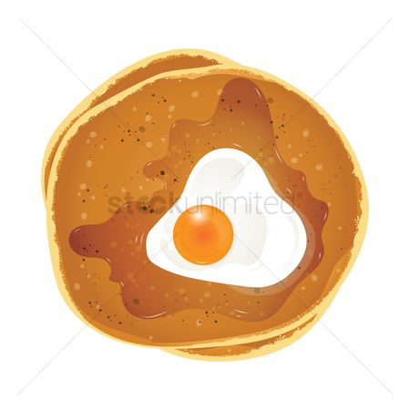 Flour : Pancakes with egg