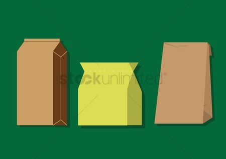 Shopping background : Paper bags
