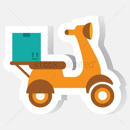 Scooters : Parcel on scooter