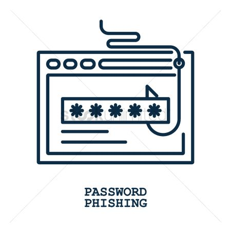 Password : Password phishing concept