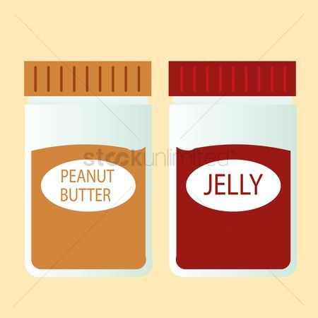 Jars : Peanut butter and jelly jars