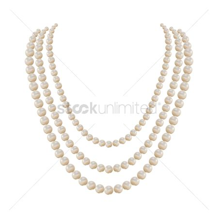 Trendy : Pearl necklace