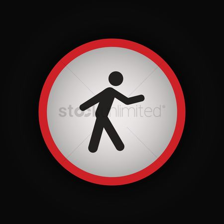 Signages : Pedestrian crossing sign