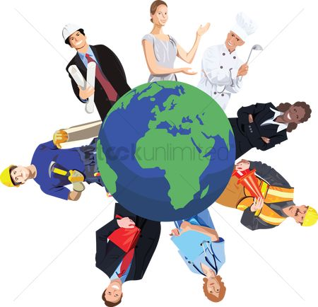 Health : People from various professions around the world