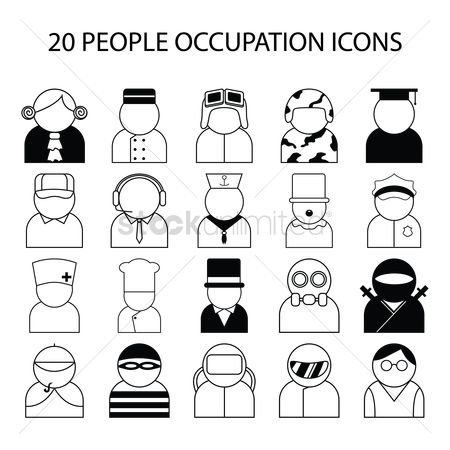 Call : People occupation icons