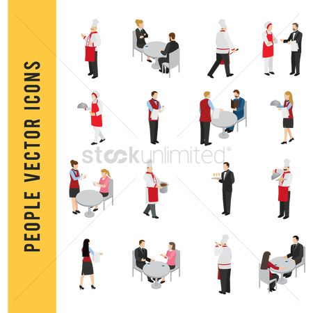Eat : People vector icons