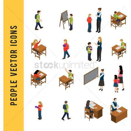 Blackboard : People vector icons