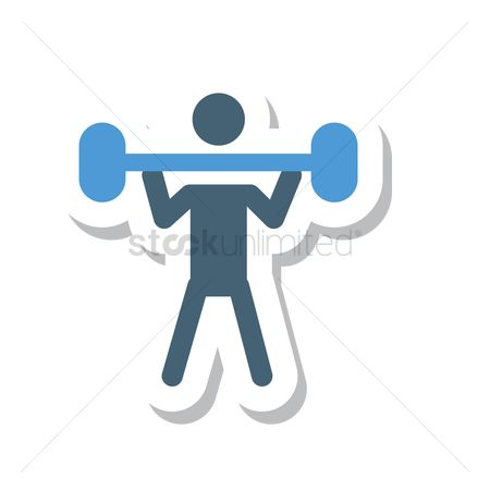 Strength exercise : Person weightlifting a barbell