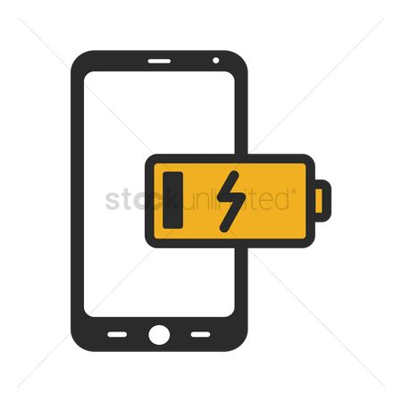 Electricity : Phone low battery icon