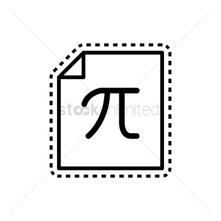 Math : Pi on paper icon