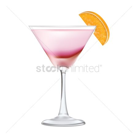 Liquor : Pink lady cocktail