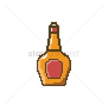 Liquor : Pixel art bottle of whisky