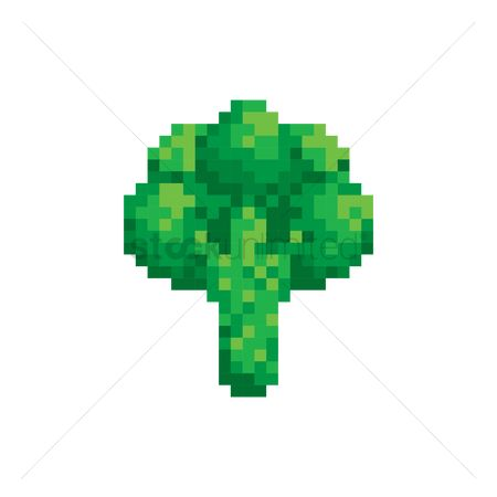 Greens : Pixel art broccoli