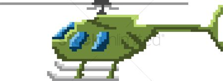 Helicopter : Pixel art helicopter