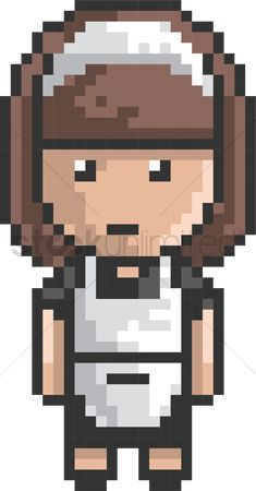 Maids : Pixel art housemaid