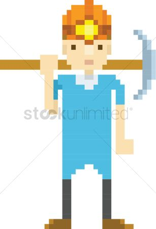 Pick axe : Pixel art miner