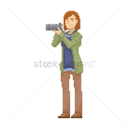 Photographers : Pixel art photographer