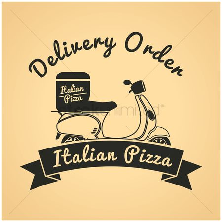 Pizza delivery : Pizza delivery label