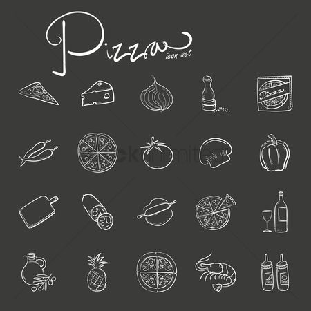 Drinking : Pizza icon set