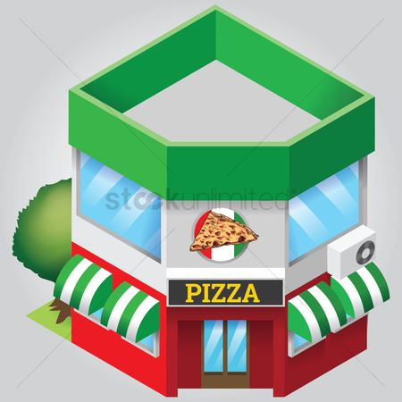 Awning : Pizza shop
