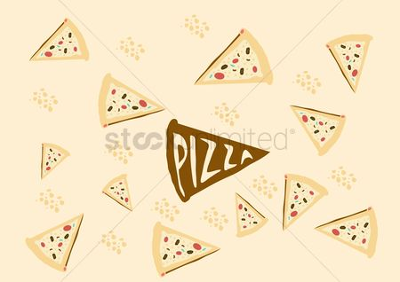 Unhealthy eating : Pizza slice