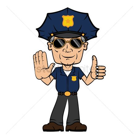Policemen : Policeman with hand gesture
