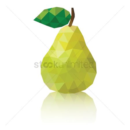 Summer : Polygon pear wallpaper