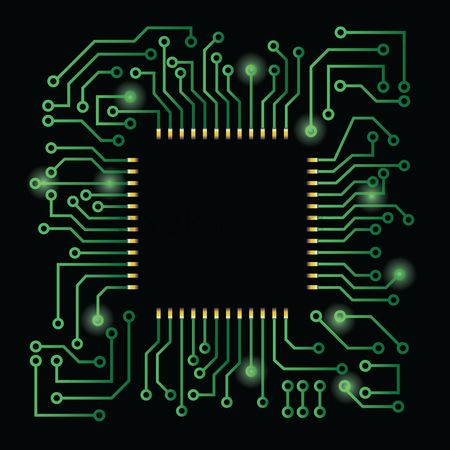 Electronic : Processor on circuit board design