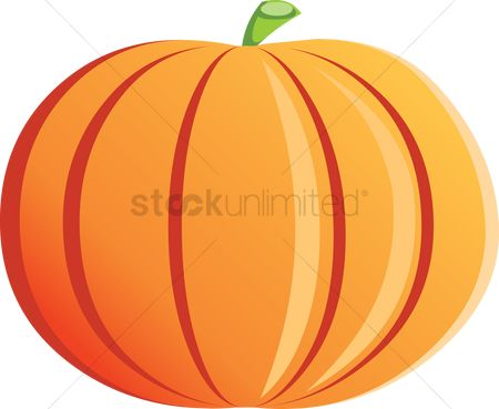 Nutritions : Pumpkin over a white background