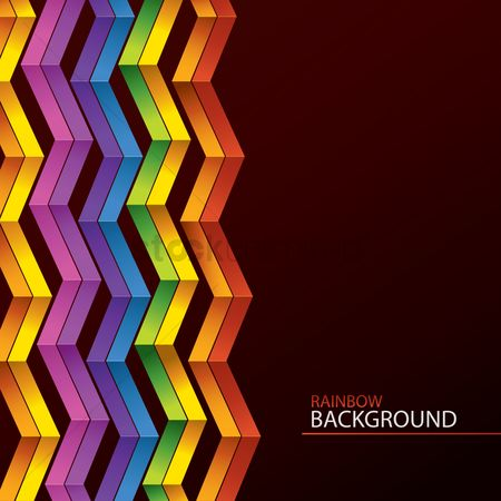 Zig zag : Rainbow background