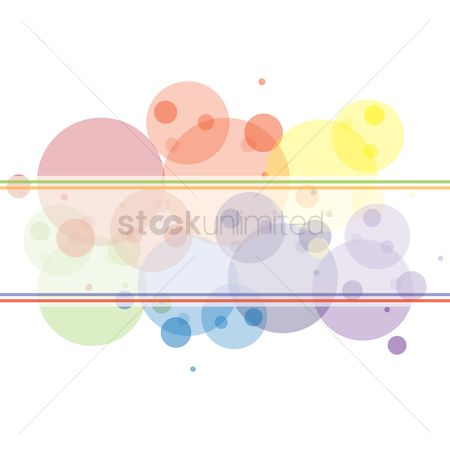 Copyspaces : Rainbow circles background with copyspace