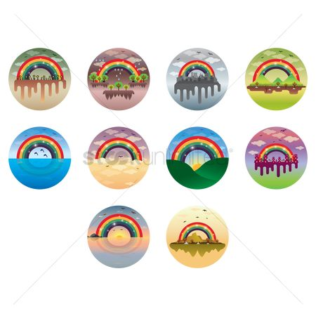 Drippings : Rainbow icons