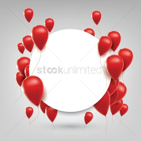 Valentine : Red balloons concept