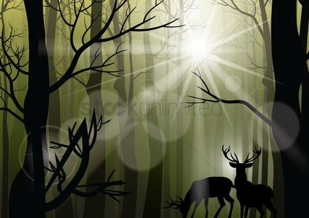 Sunray : Reindeer background