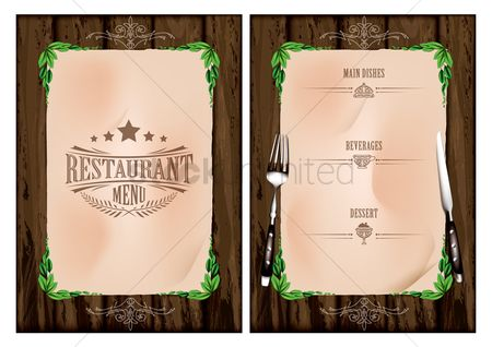 Main : Restaurant menu concept
