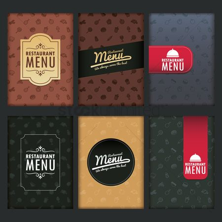 French : Restaurant menu design collection