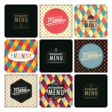 Geometrics : Restaurant menu design collection