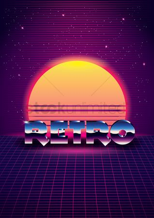 Pub : Retro design background