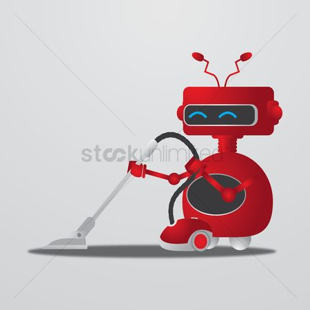 Clean : Robot with vacuum cleaner