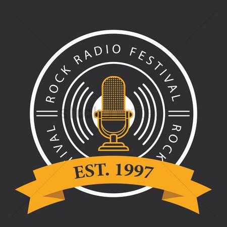 Music : Rock radio festival logo