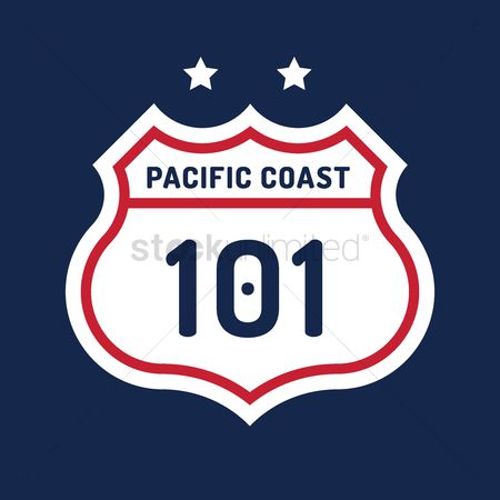 Coast : Route 101 sign