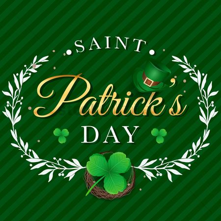 Typographics : Saint patricks day design